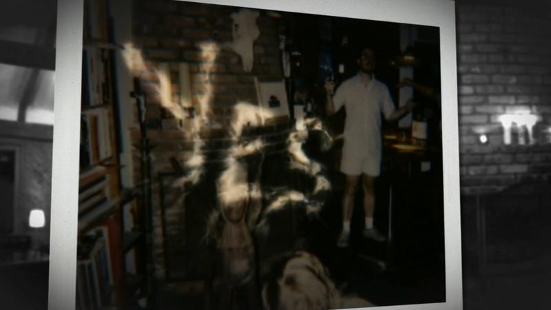 The words 'yes' are seen in these Poloroid pictures taken at a home in Glassell Park.