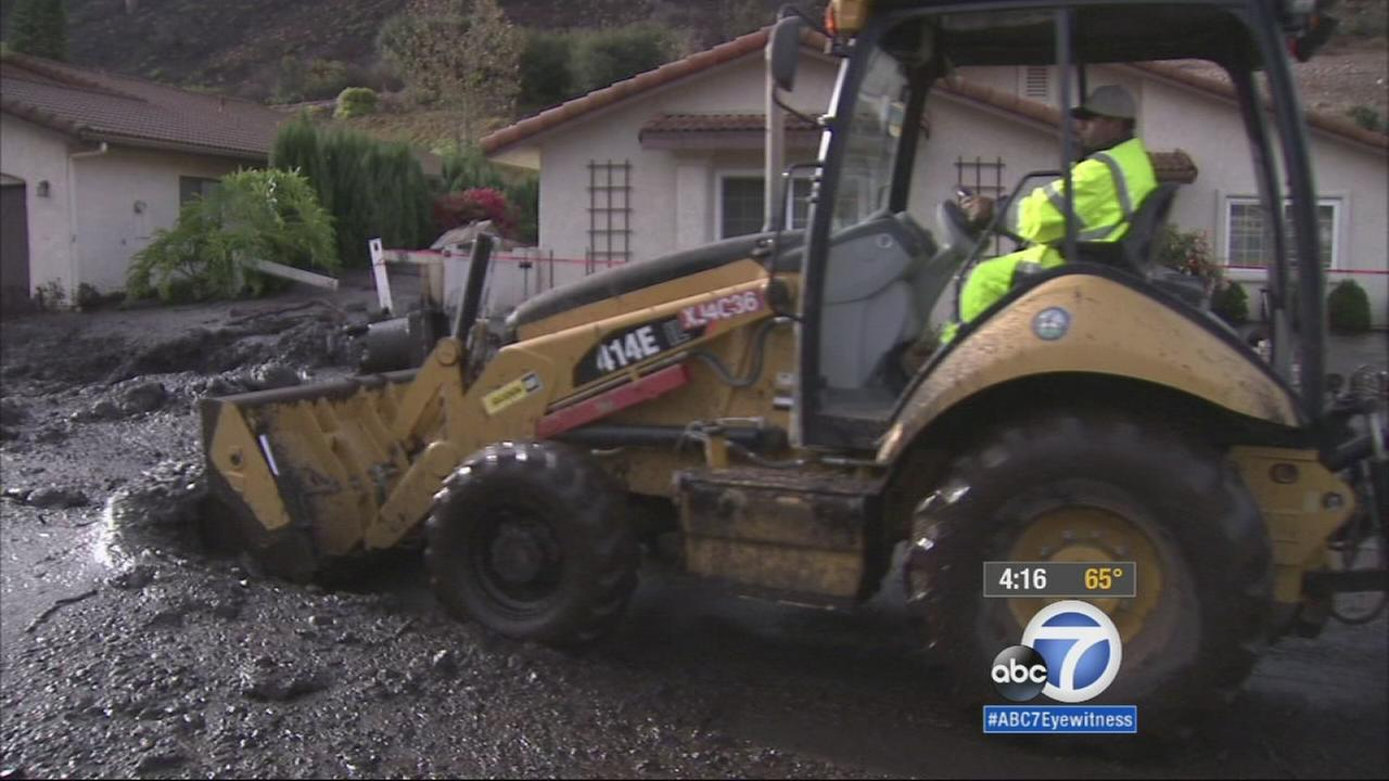 An evacuation order was lifted for a Camarillo Springs neighborhood after mud and debris flowed through the area overnight.