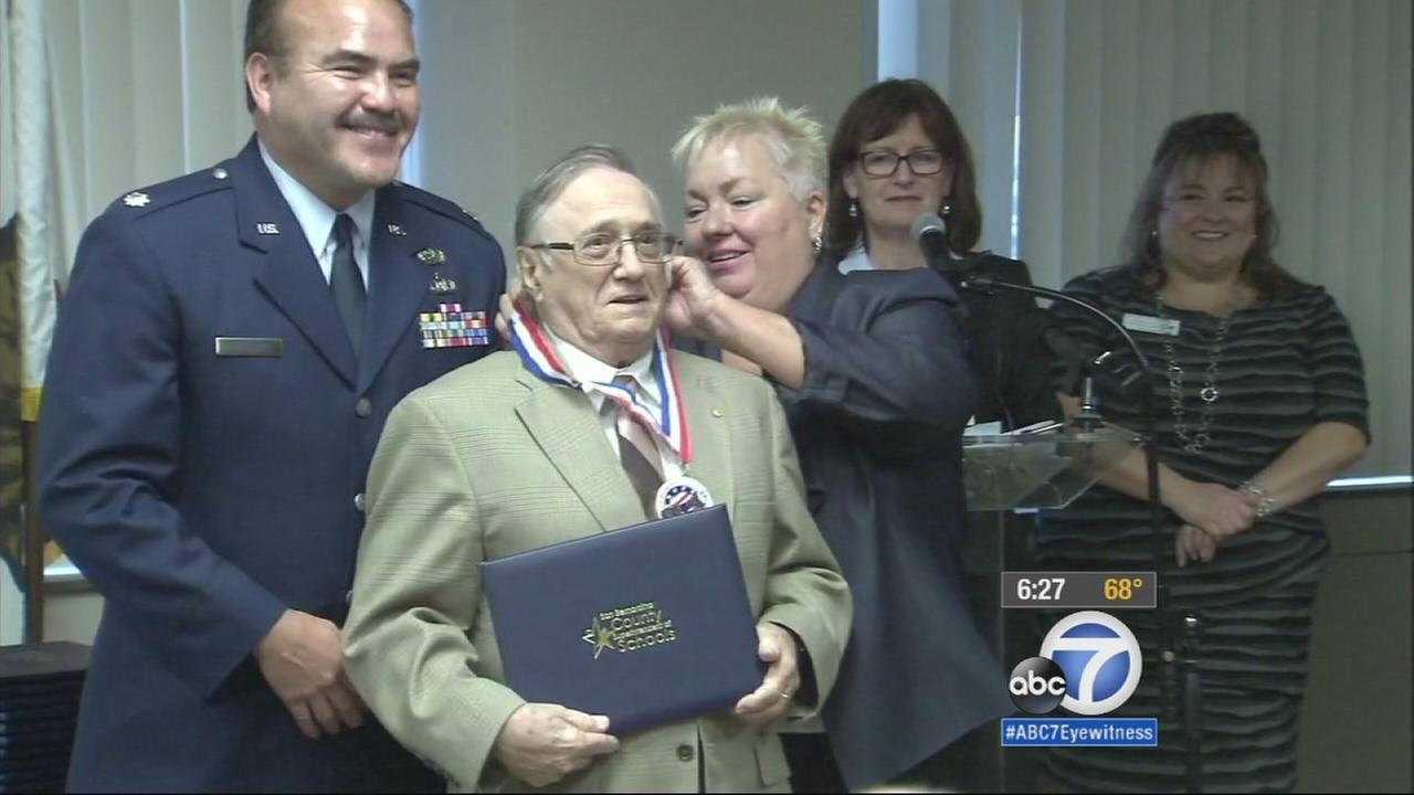 Some very special and deserving students attended a long-awaited graduation ceremony in San Bernardino. These veterans never got their diplomas because they left school to fight for the nation.