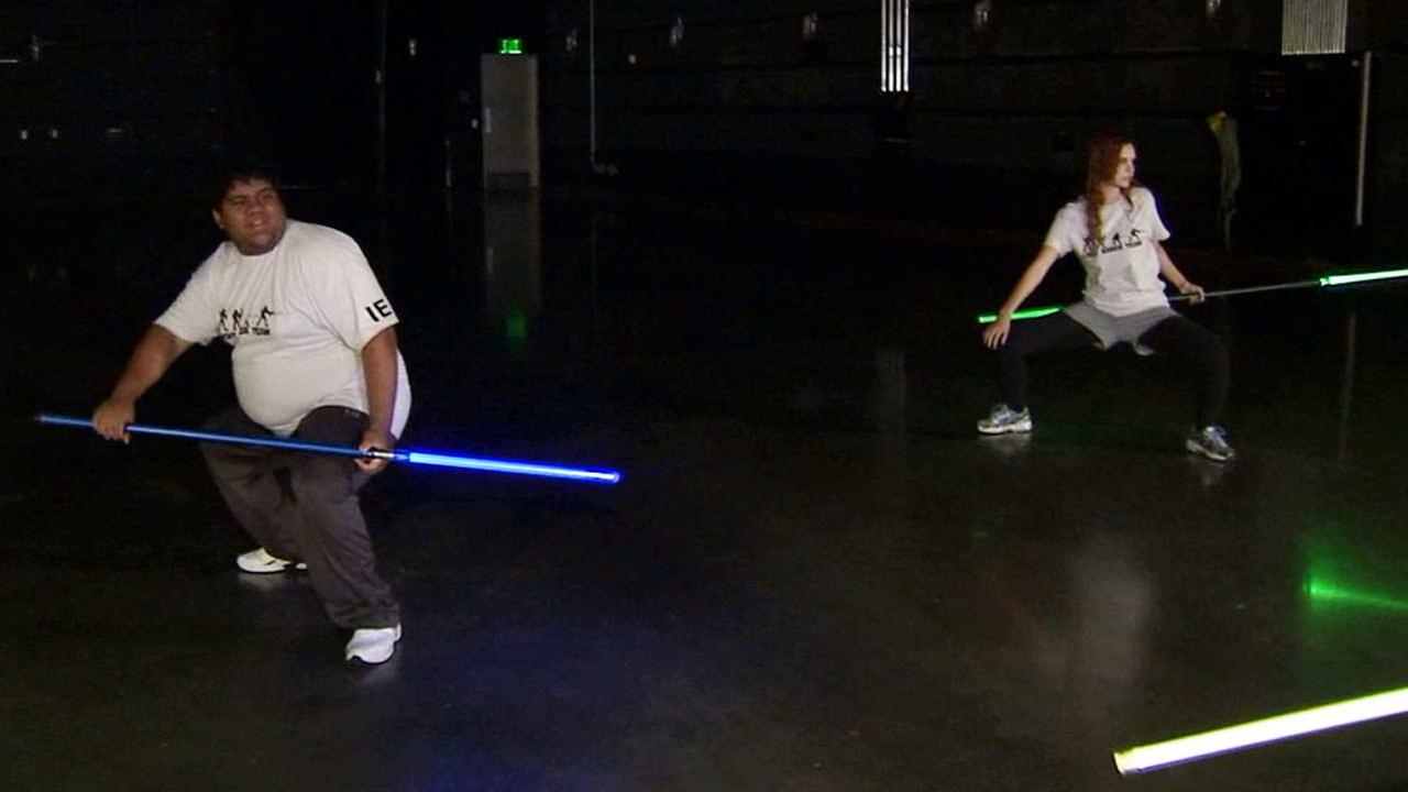 A new type of workout is anything but the old gym routine. The Saber Team combines exercise with the iconic Star Wars lightsaber.