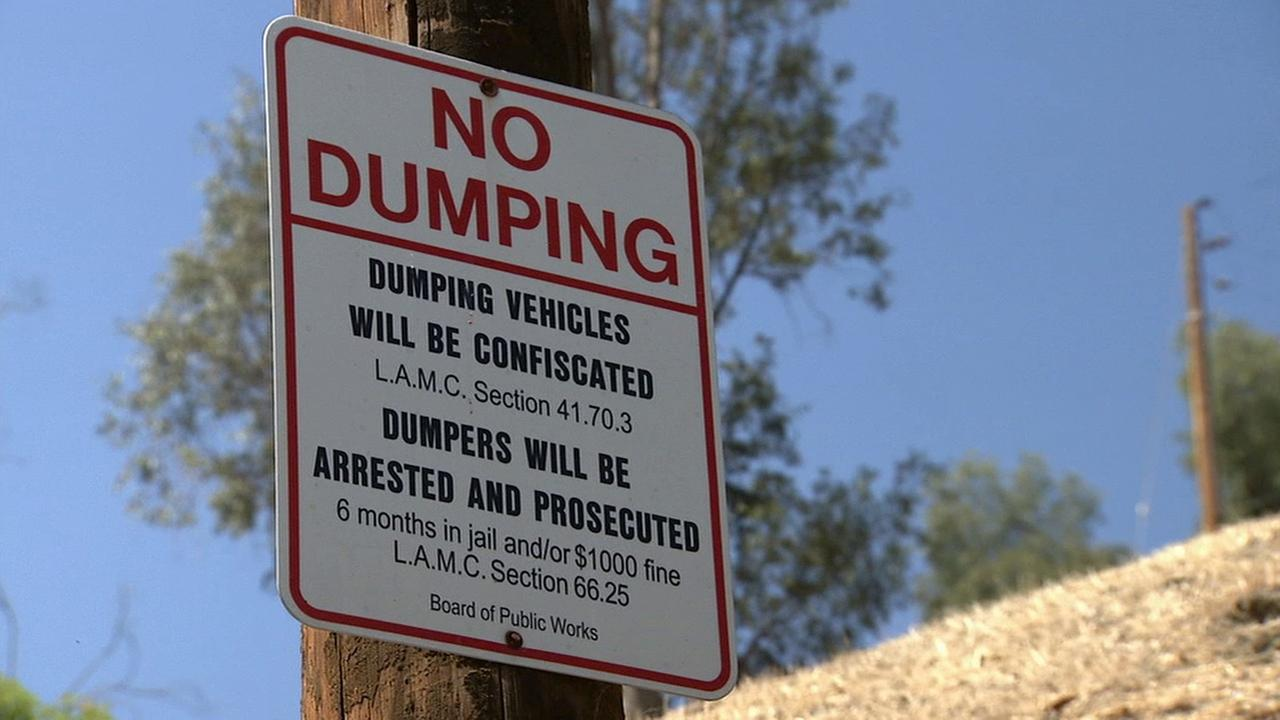 A No Dumping sign is posted in this undated file photo.