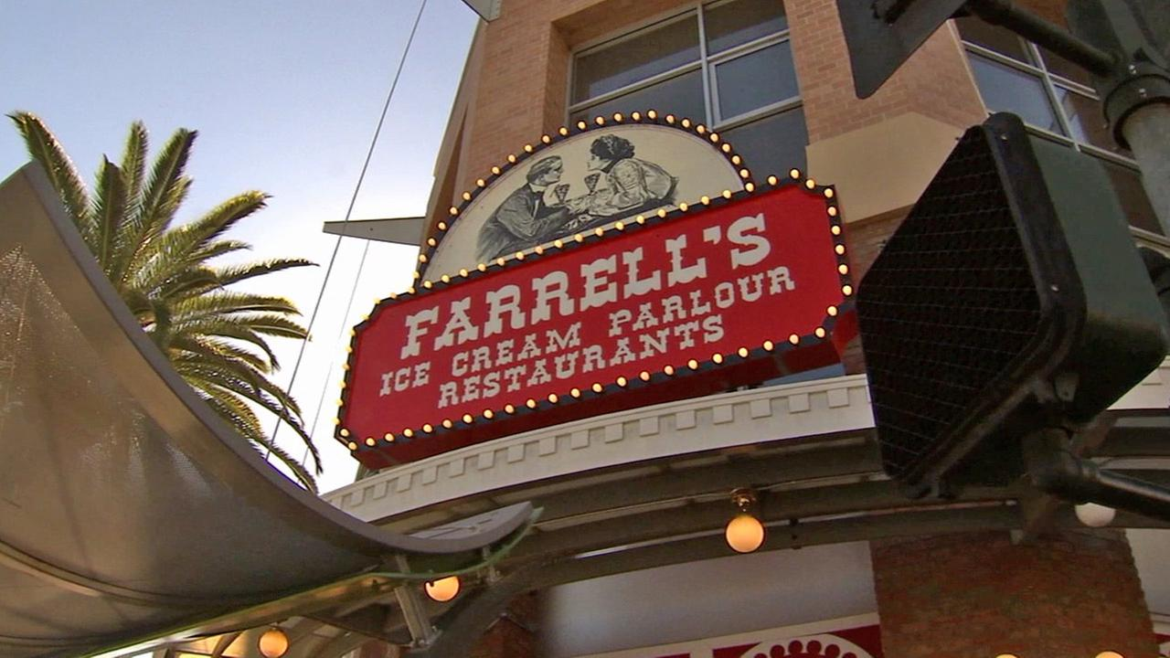 A sign for Farrells Ice Cream Parlour is seen in this undated file photo.