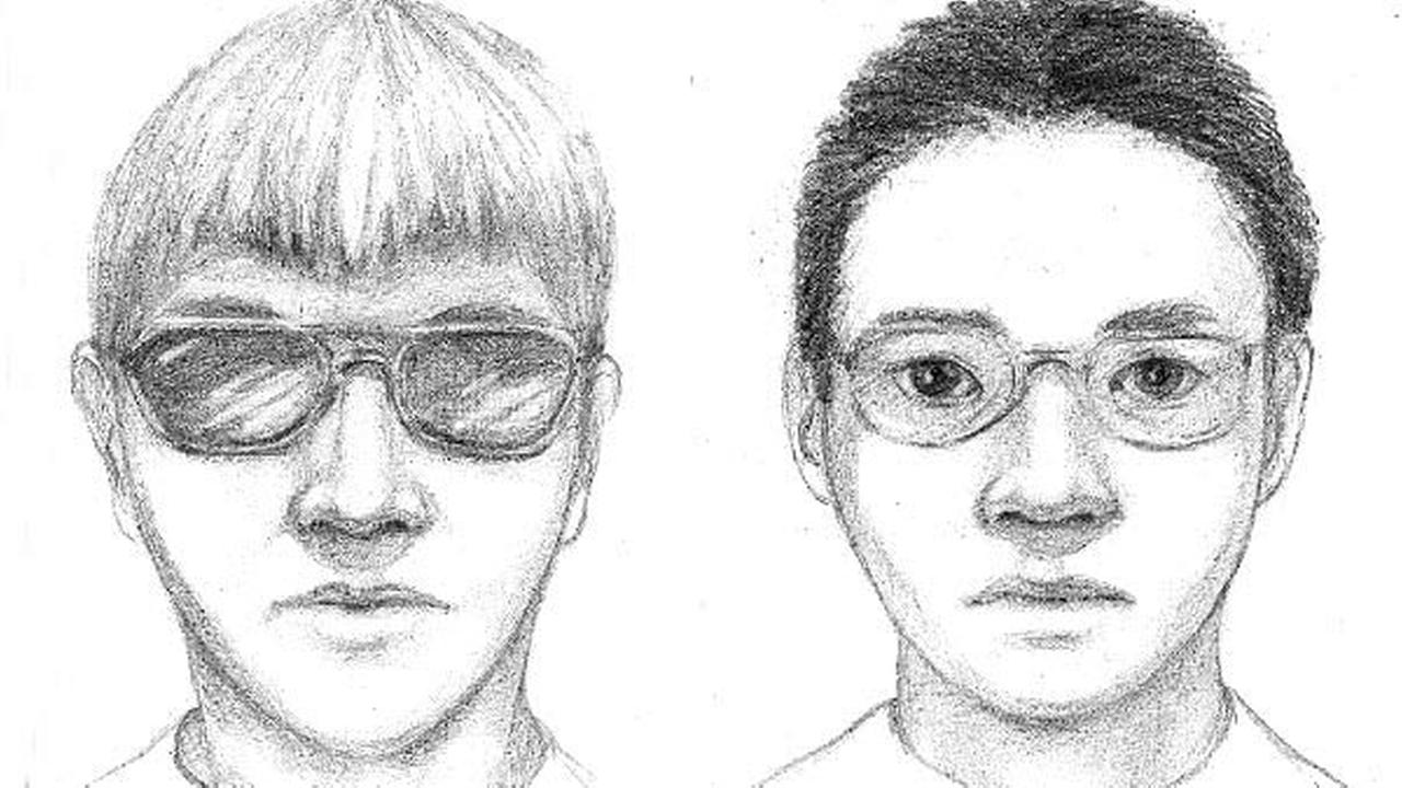 University of California Riverside Police released these composite sketches of two attempted kidnapping suspects who approached women on the campus on Saturday, April 12, 2014.