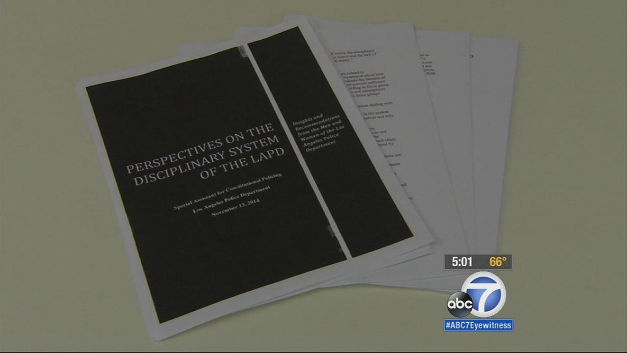 A survey of 500 LAPD employees found widespread concerns among officers and civilians that the departments internal discipline system is flawed and discriminates based on gender, ethnicity and rank.