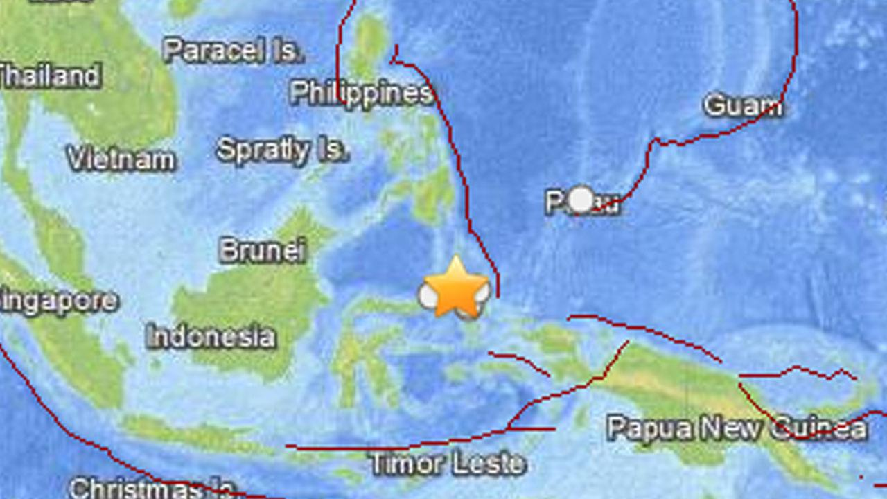 A 7.3-magnitude quake hit Indonesian waters 96 miles northwest of Kota Ternate Friday, Nov. 14, 2014.