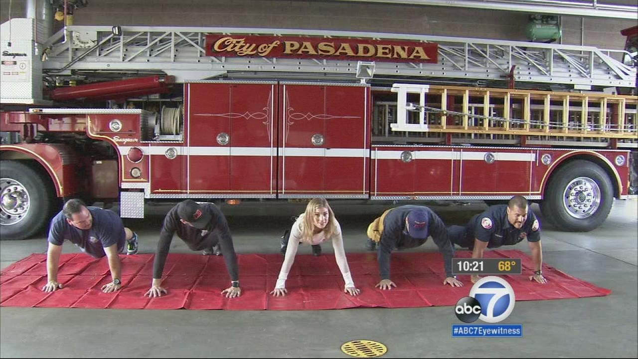 Pasadena firefighters are sporting mustaches to bring awareness to mens health issues this Movember.