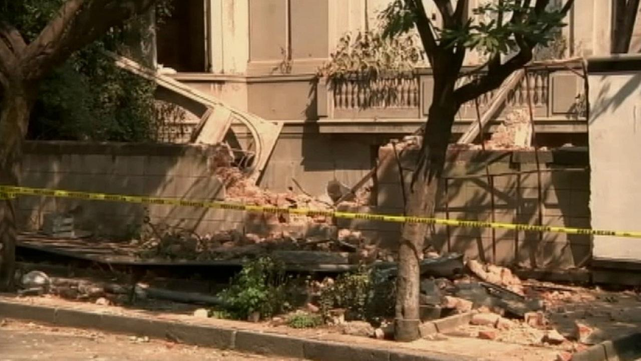 Damage is seen after a 7.2-magnitude earthquake in Mexico on Friday, April 18, 2014.