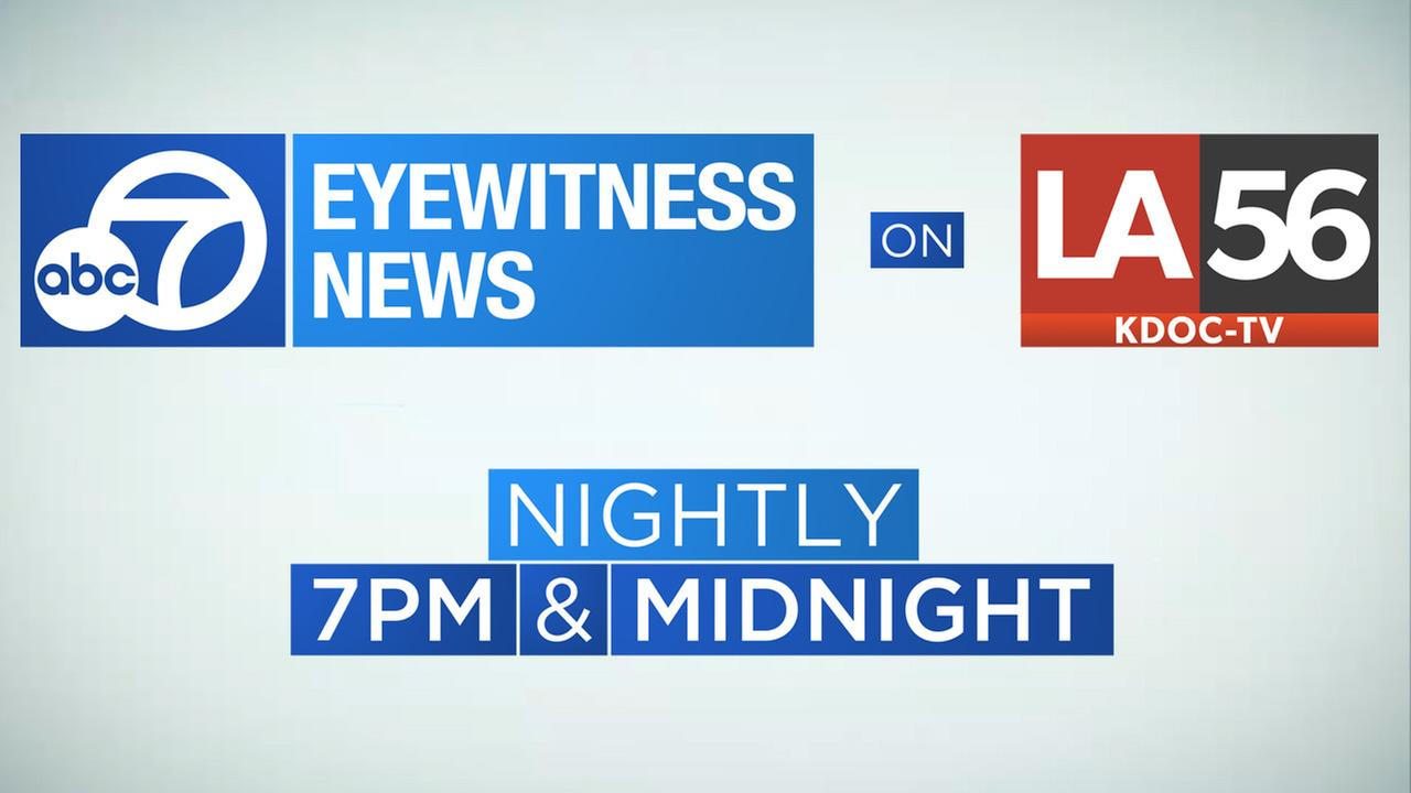 Eyewitness News at 7 p.m. on LA56 KDOC-TV