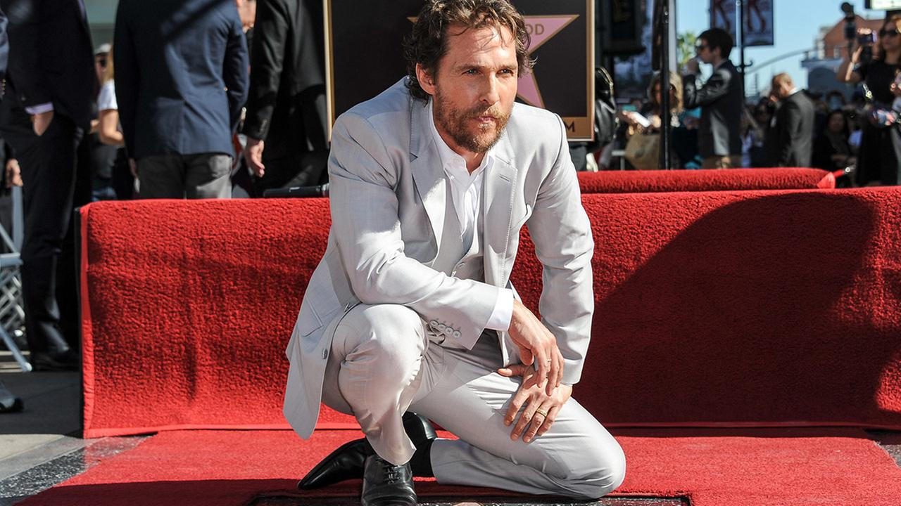 Matthew McConaughey attends the ceremony honoring him with a star on the Hollywood Walk Of Fame on Monday, Nov 17, 2014, in Los Angeles.
