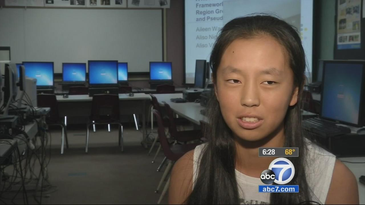 Research conducted by an Aliso Viejo a high school senior Aileen Wang may help doctors detect breast and skin cancer sooner.