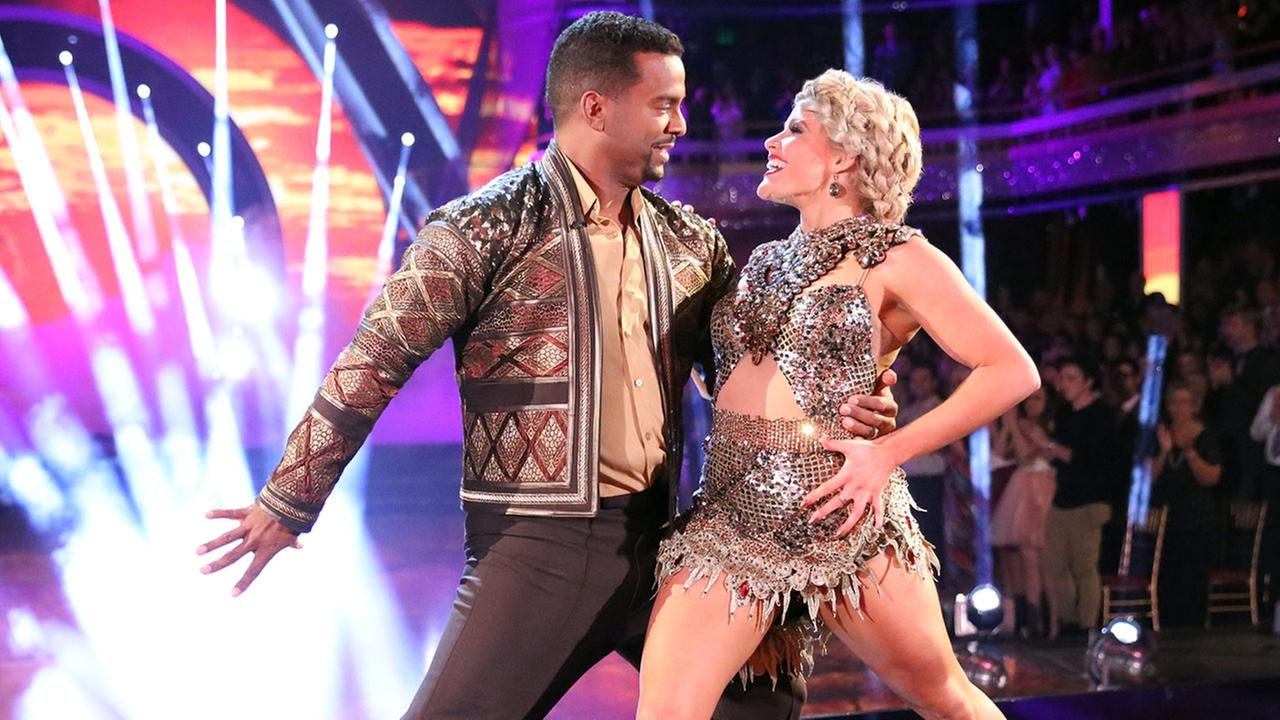 Alfonso Ribeiro and Witney Carson perform on the Dancing With The Stars semi-finals on Monday, Nov. 17, 2014.