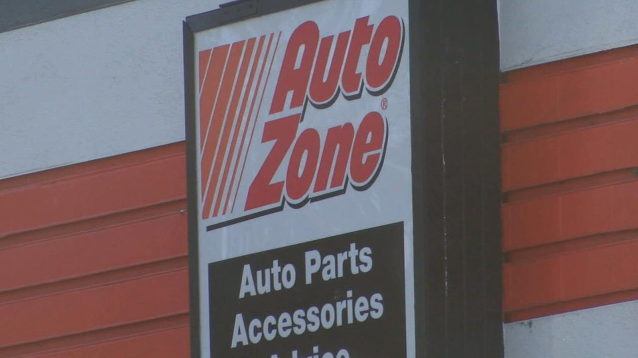 An AutoZone sign is shown in this undated file photo.