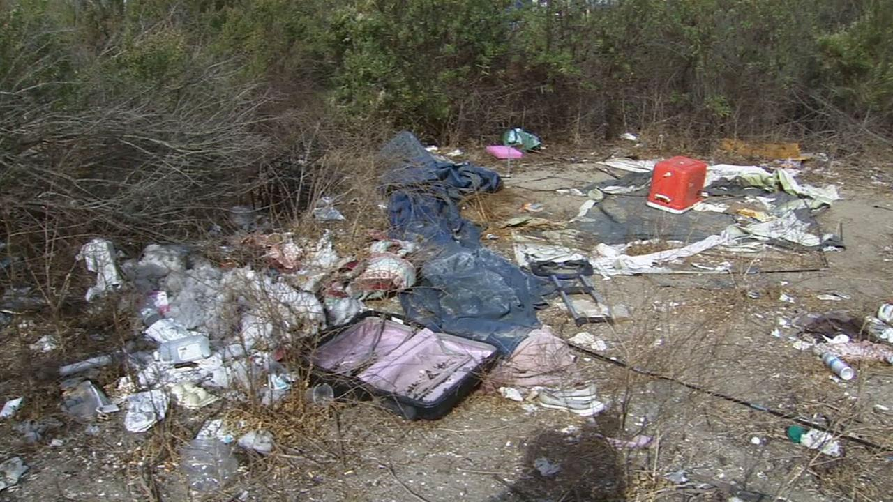 Trash found in Ballona Wetlands is shown in this undated file photo.