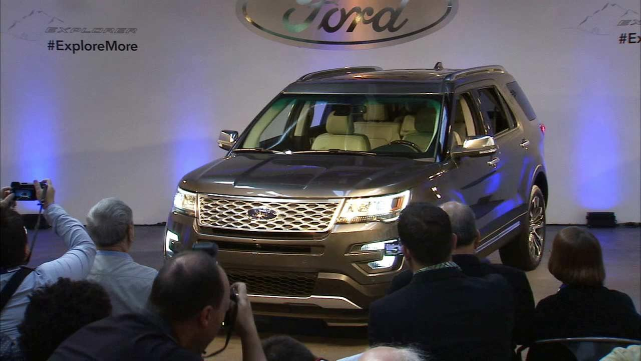 The 2016 Ford Explorer is displayed at the Los Angeles Auto Show in downtown Los Angeles on Wednesday, Nov. 19, 2014.