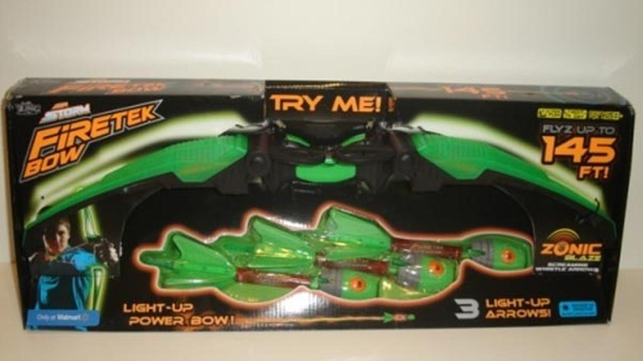 The Air Storm Firetek Bow by Zing made the list of 10 worst toys for kids.