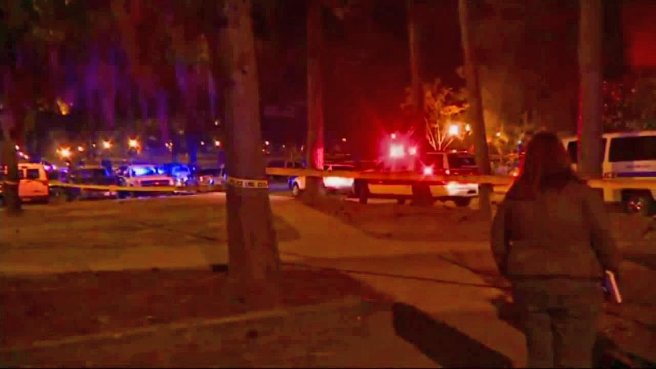 Police respond to a shooting at Florida State University on Thursday, Nov. 20, 2014.