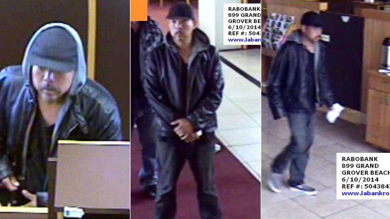 The FBI and police are searching for the Beachcomber Bandit, suspected of robbing banks in Los Angeles and San Luis Obispo counties this year.