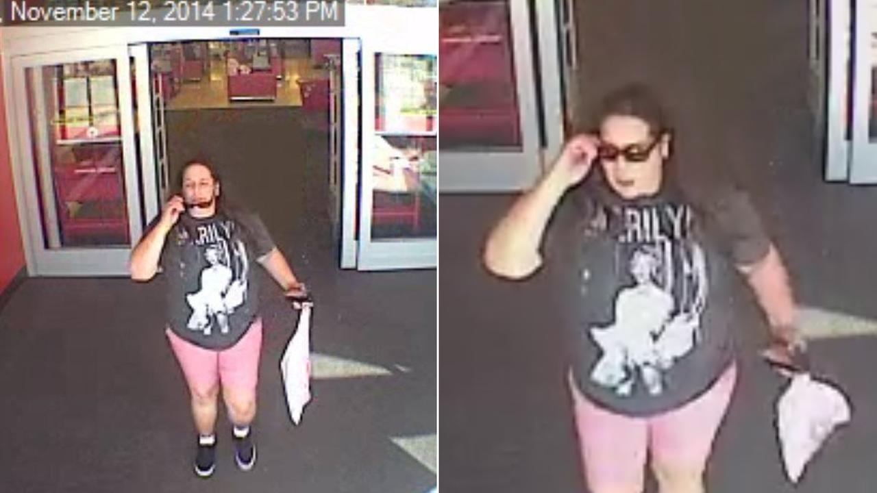 The Simi Valley Police Department is asking for the publics help to identify a woman, show in the surveillance video above, who is suspected of theft at a local Target.
