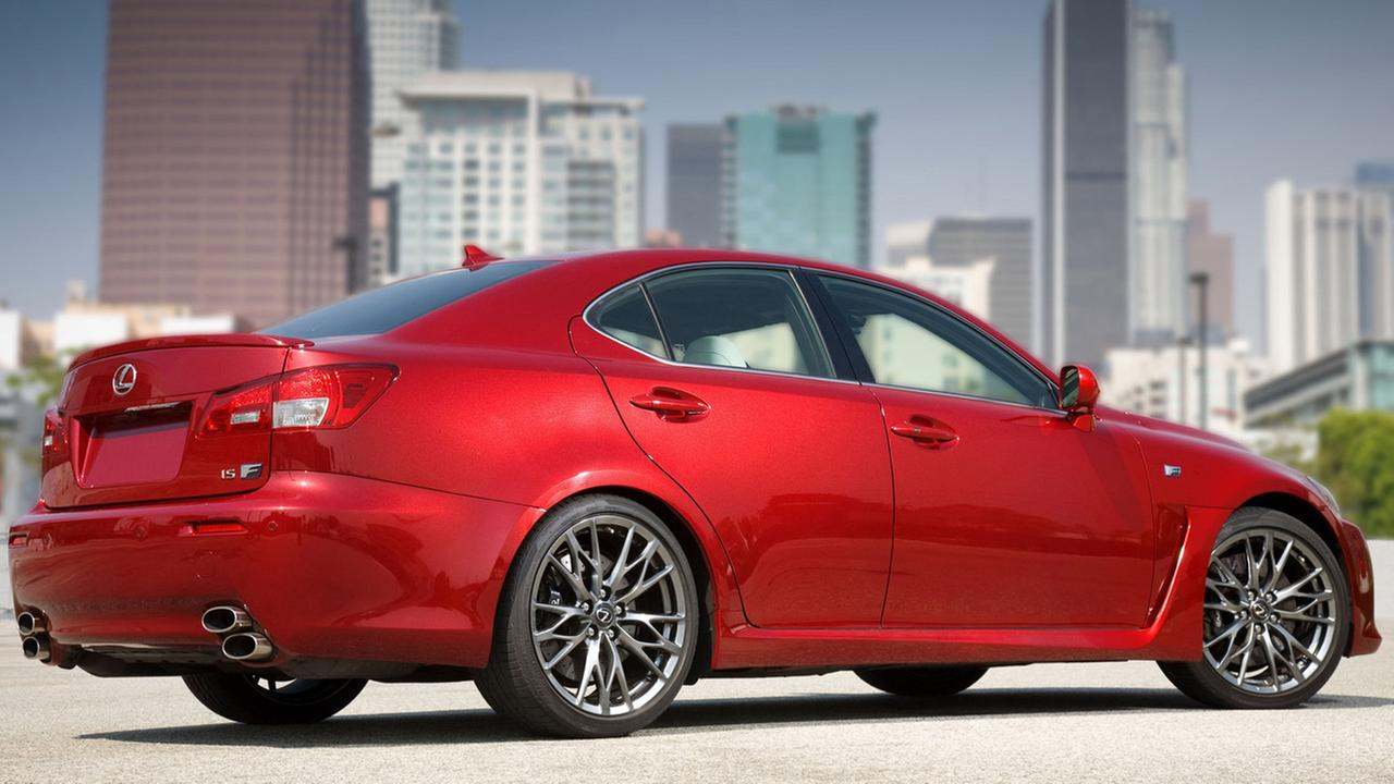 This undated file photo shows the 2011 Lexus IS F. Toyota is recalling nearly 423,000 Lexus luxury brand cars in the U.S. to fix fuel leaks that can cause fires.