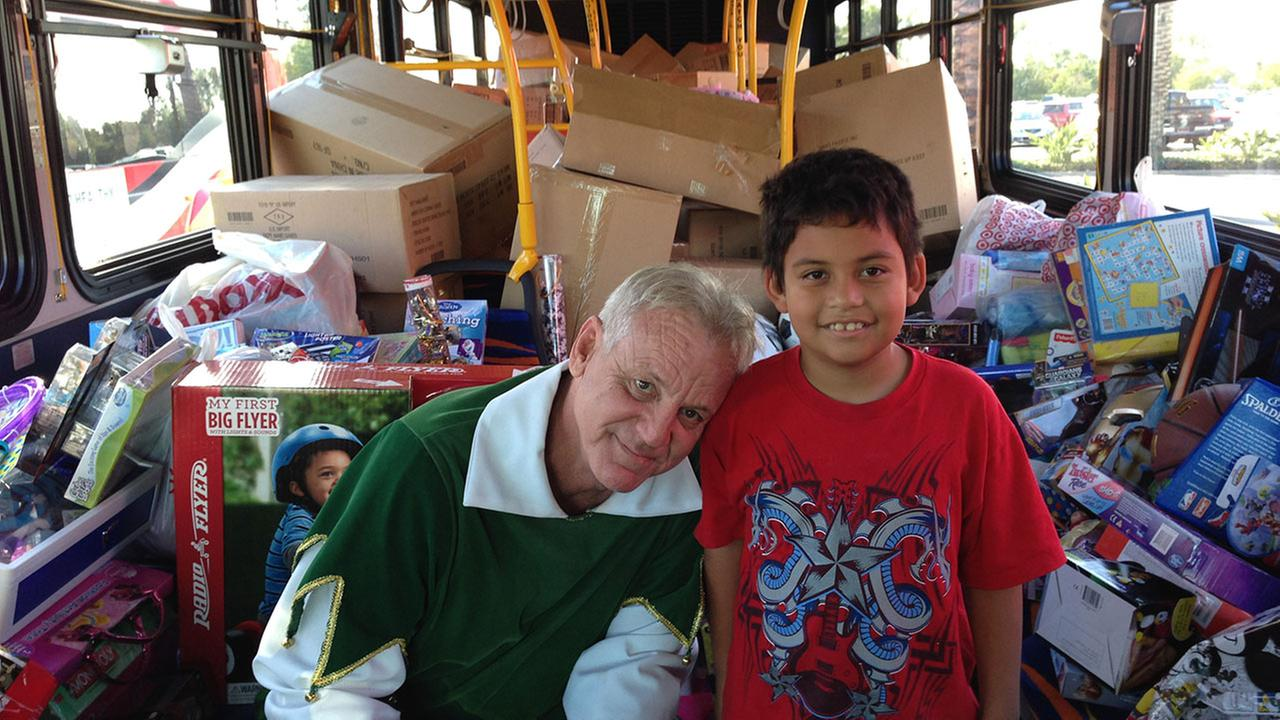 Garth the Elf at our Stuff-a-Bus toy drive in Cerritos on Friday, Nov. 21, 2014.