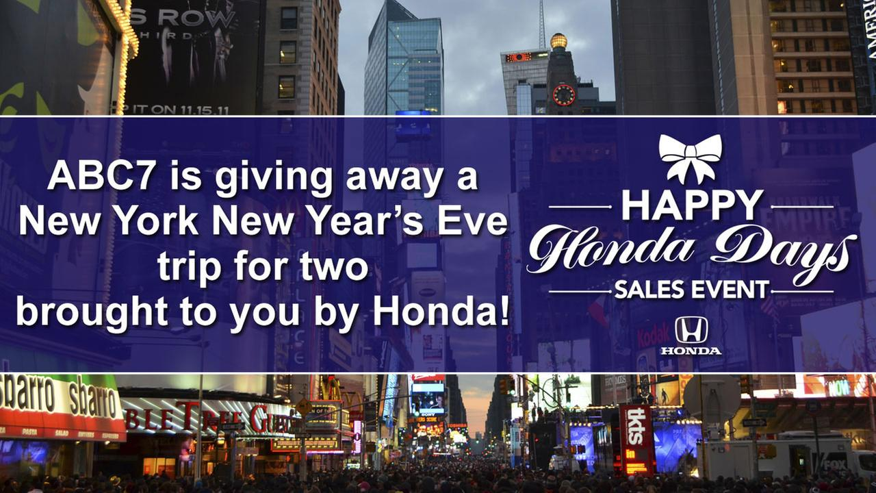 ABC7 is giving away a New York New Years Eve trip for two brought to you by Honda!