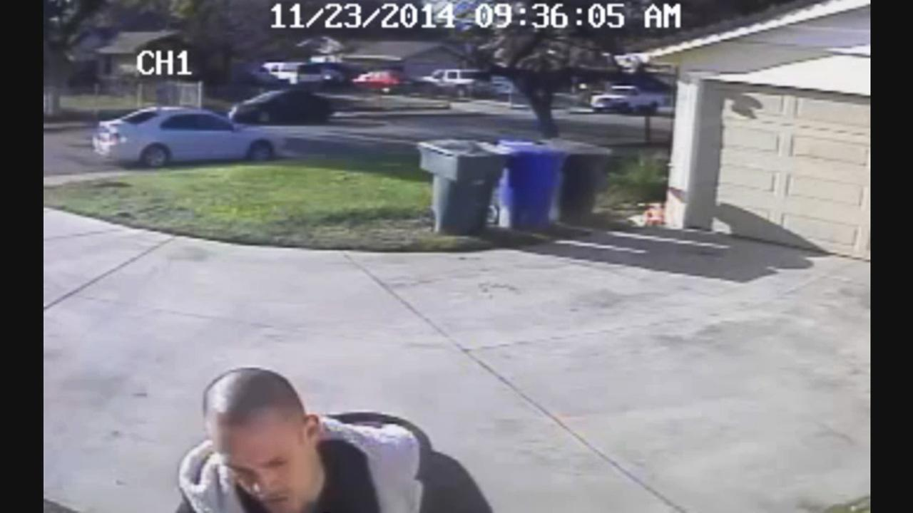 Burglary suspect caught on surveillance camera at residence on Farringdon Avenue at around 8:30 a.m. Sunday, Nov. 23, 2014.