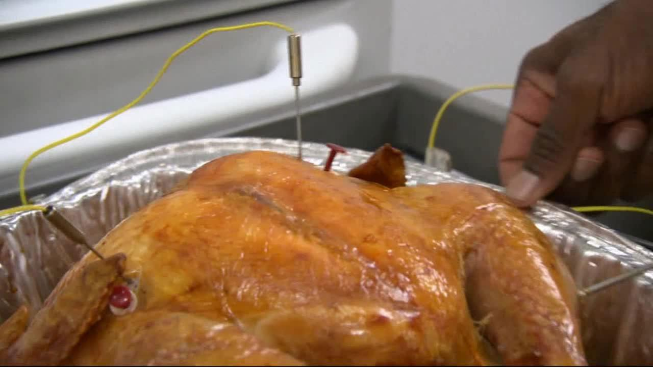 Consumer Reports test turkey cooking thermometers in this undated photo.