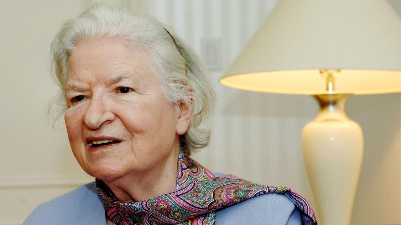 This is a Nov. 27, 2005 file photo of author P.D. James as she discusses her latest novel, The Lighthouse.