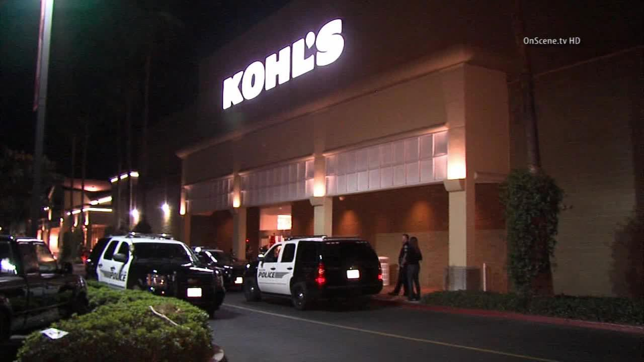 Two people were arrested after a fight broke out at a Kohls store in Tustin on Friday, Nov. 28, 2014.