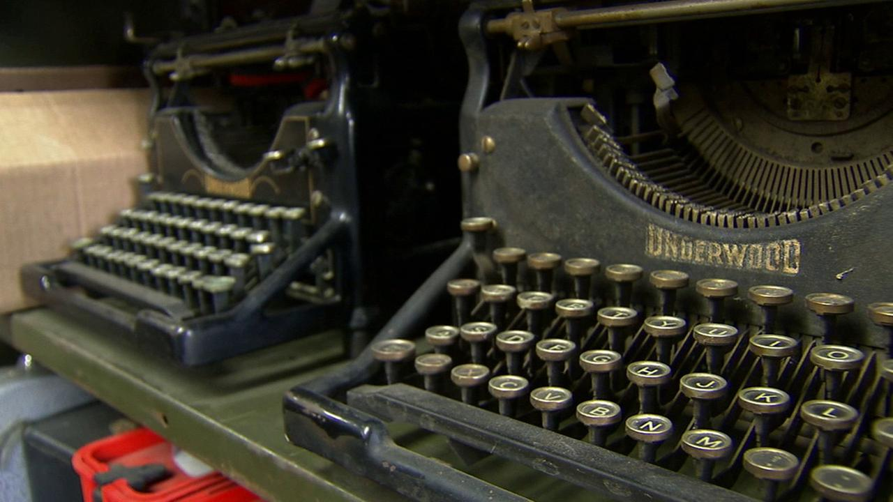 Underwood typewriters are shown in this undated file photo.