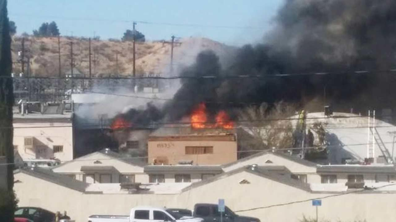 A vegetation/debris fire threatened structures in Victorville on Saturday, Nov. 29, 2014.
