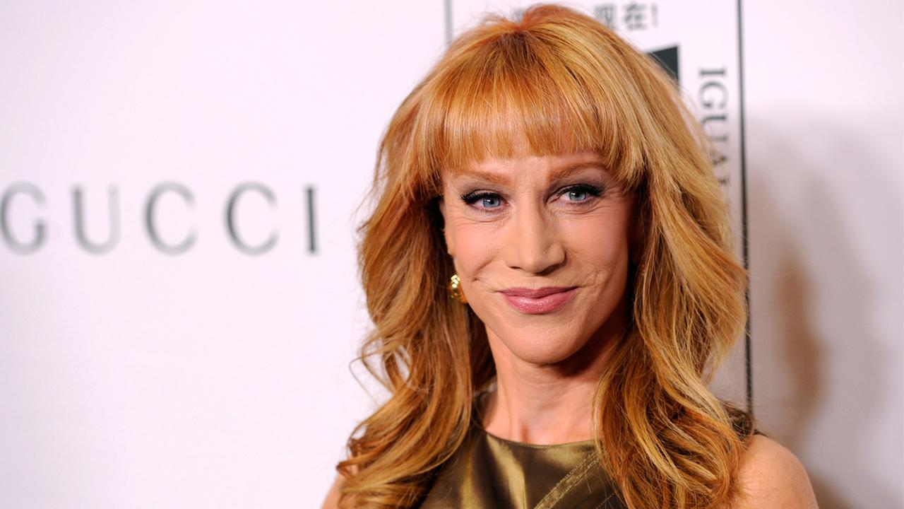 In this Nov. 3, 2014 file photo, host Kathy Griffin poses at the Make Equality Reality event at the Montage Hotel in Beverly Hills, Calif.