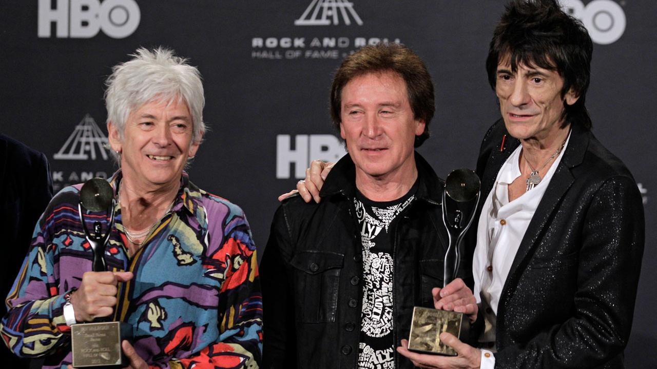 Ian McLagan (left), Rolling Stones collaborator and Faces keyboardist, died on Wednesday, Dec. 3, 2014, at the age of 69 after suffering a stroke.AP Photo/Amy Sancetta, File