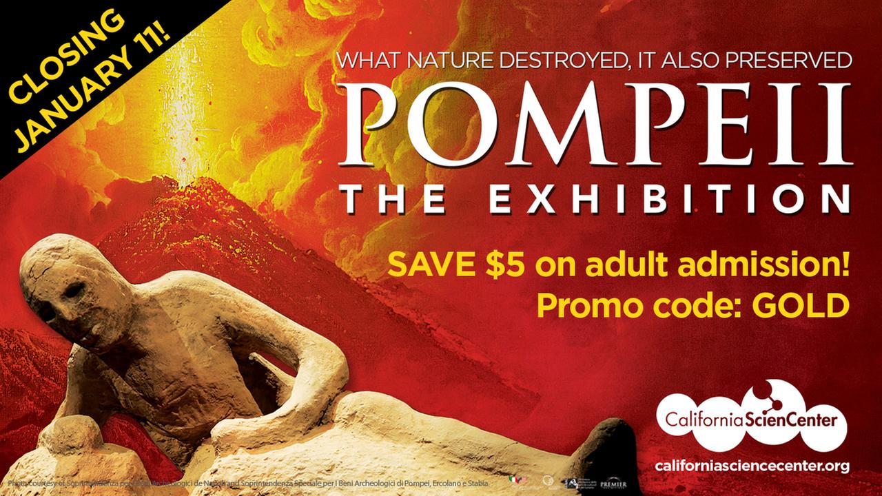 Save $5 on admission to Pompeii the Exhibition