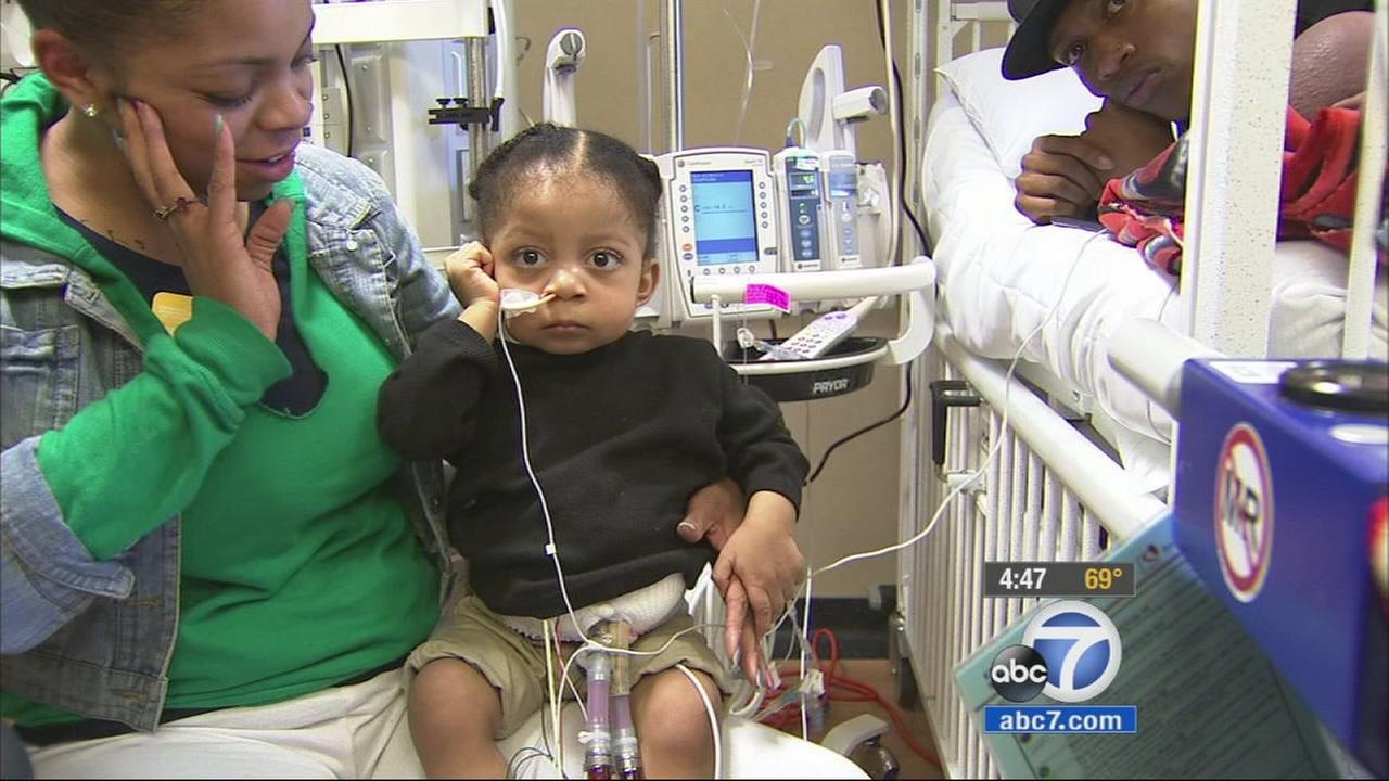 A Victorville couple want only one thing this holiday season, and thats to find a heart for their ailing 2-year-old son.