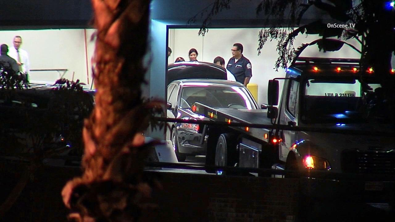 Investigators found a Honda Accord belonging to Daniel and Erica Perez with the body of a dead woman in the trunk about a half-mile from their Montebello home on Thursday, Dec. 10, 2014.KABC