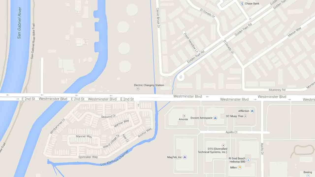 This Google Maps image indicates the area near the Unocal service station in the 12000 block of Seal Beach Boulevard in Seal Beach.
