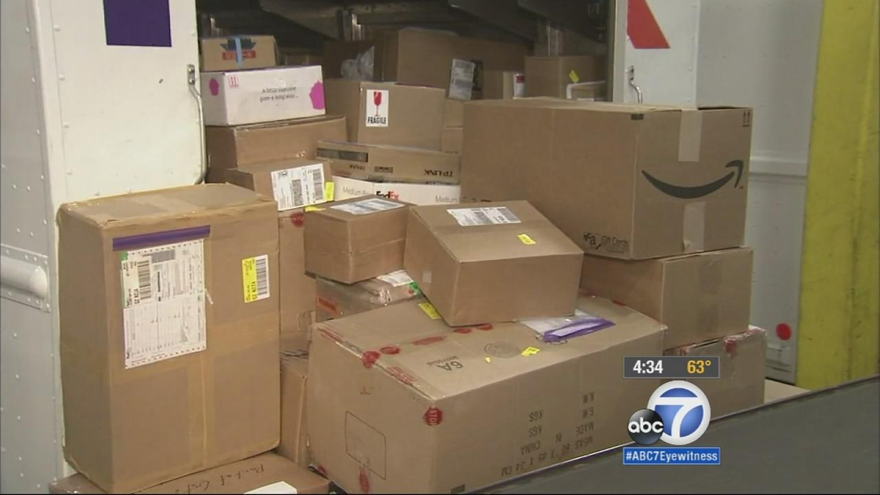 Dec. 15 is the busiest shipping and mailing day of the year -- about six million customers are expected to visit a post office on Monday.