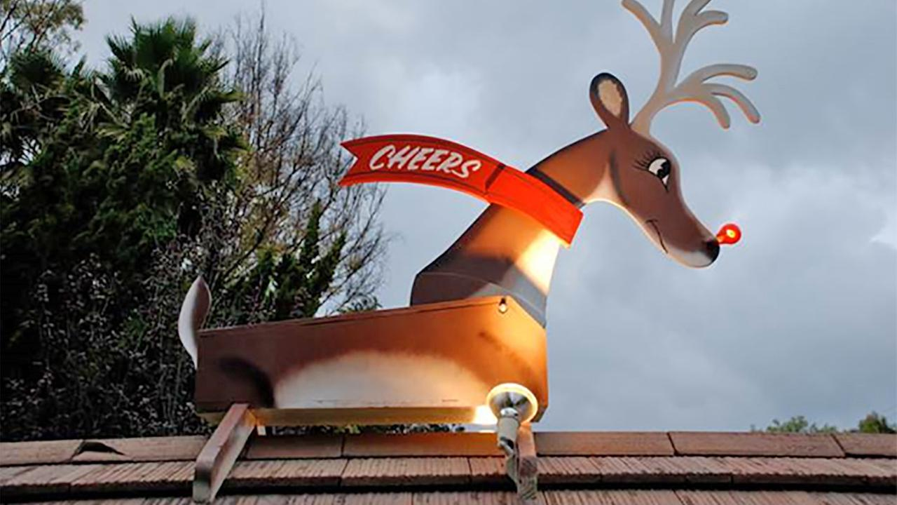 A Rudolph decoration stolen from the entrance of a Ranchview community in Rolling Hills Estates is shown in this undated file photo.