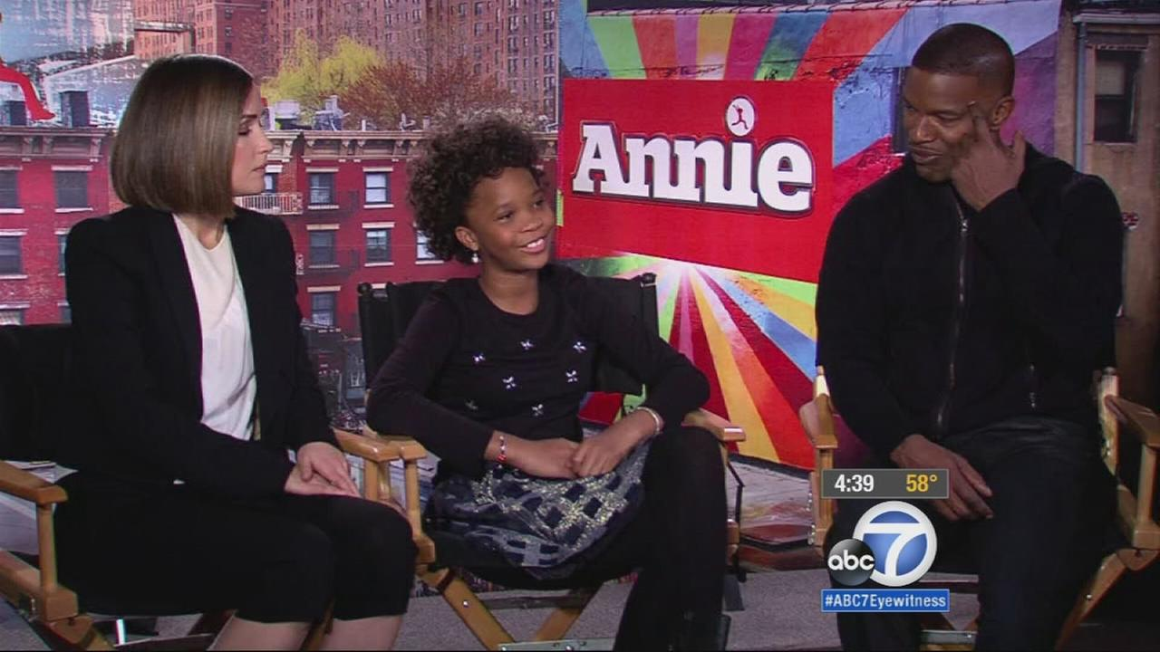 Stars of the new Annie film talk about the film in this 2014 photo.