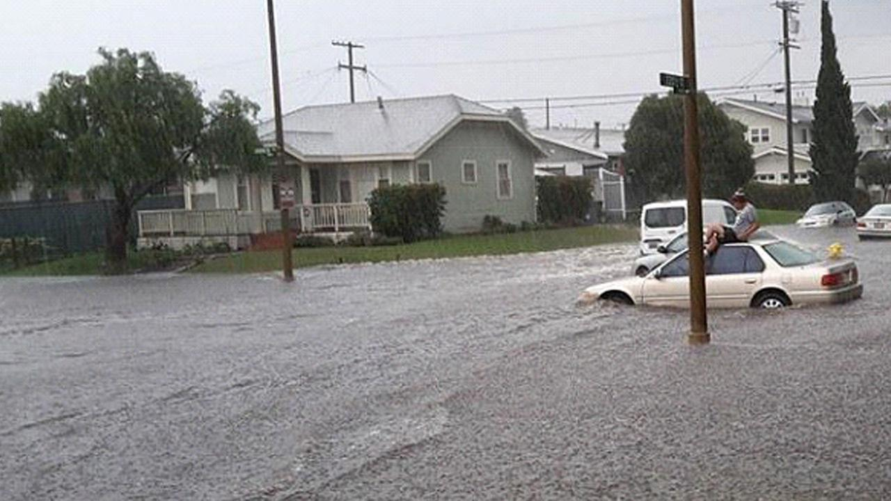 Major flooding was reported in eastern Torrance Tuesday, Dec. 16, 2014.