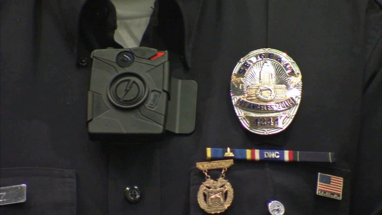 Los Angeles Mayor Eric Garcetti says he plans to implement funding in the 2015-2016 budget to outfit all 7,000 LAPD officers with body cameras.