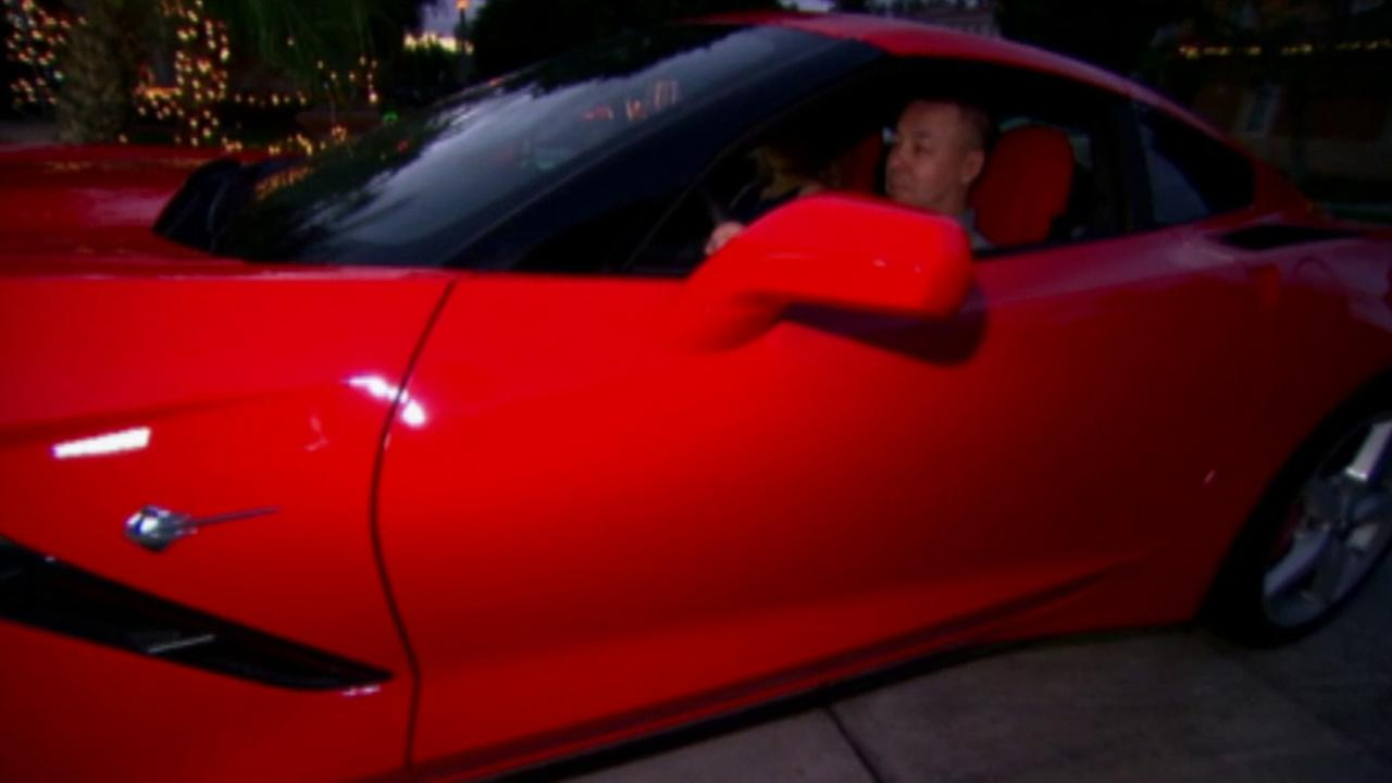 Dan Cowles new red Corvette