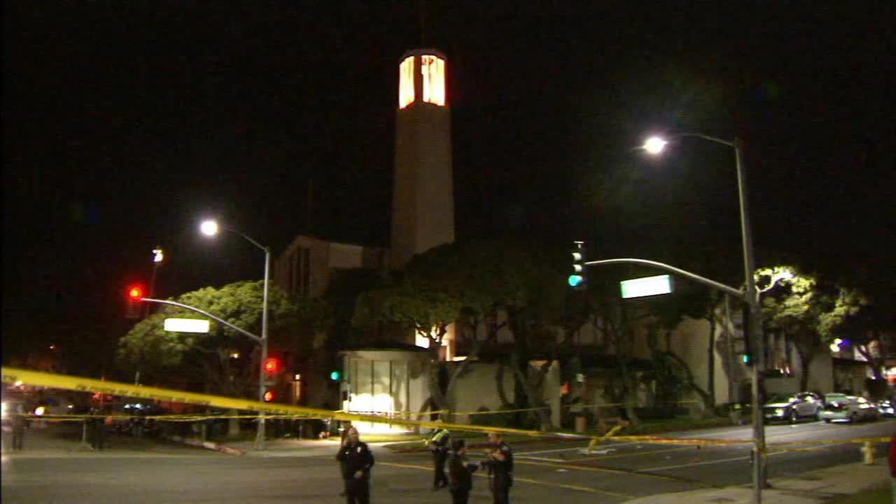 A driver crashed into a group of pedestrians outside a Redondo Beach church on Wednesday, Dec. 17, 2014.