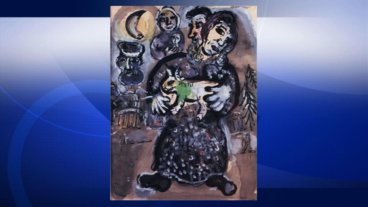A painting by Marc Chagall is seen on LAPDs website.