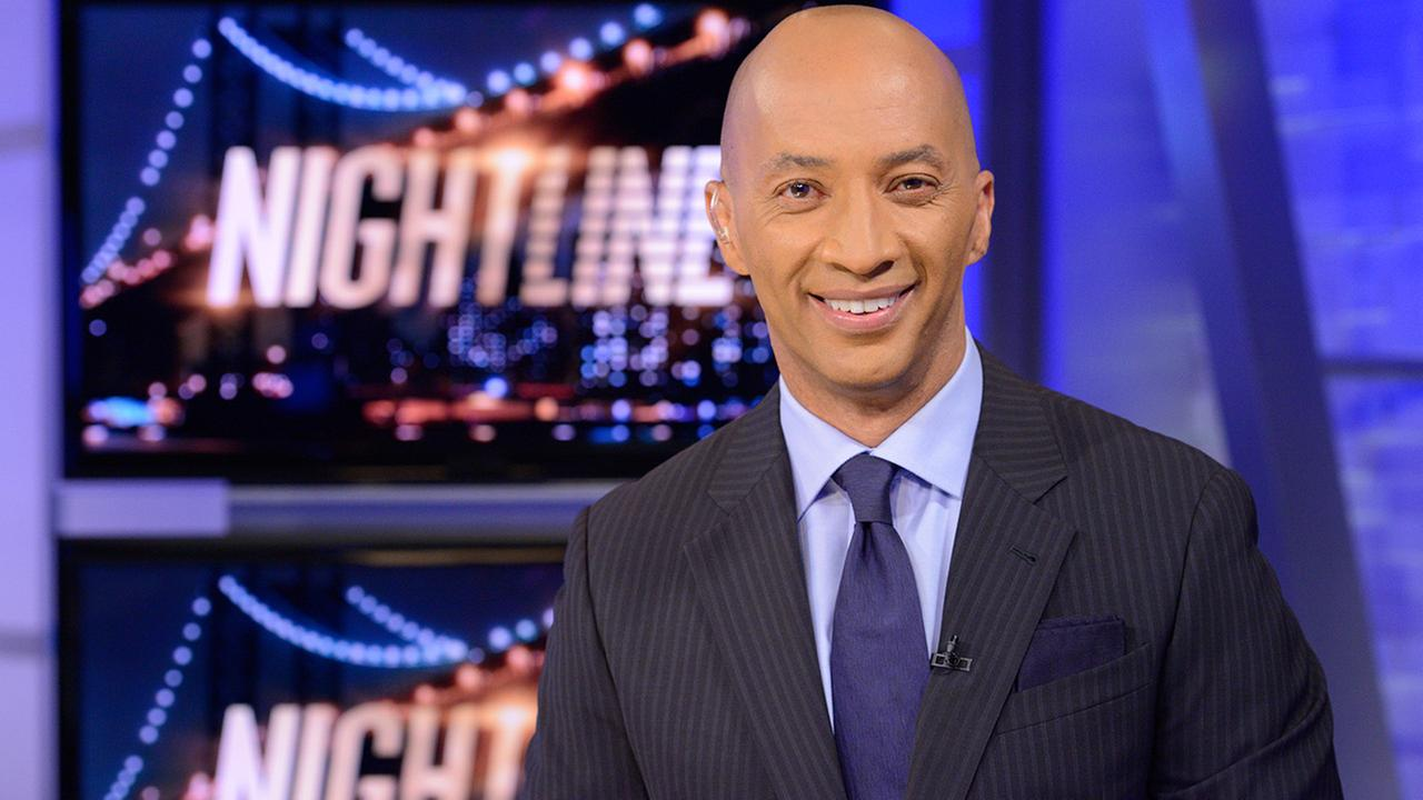 ABC News chief national correspondent Byron Pitts appears on the set of Nightline, in New York.