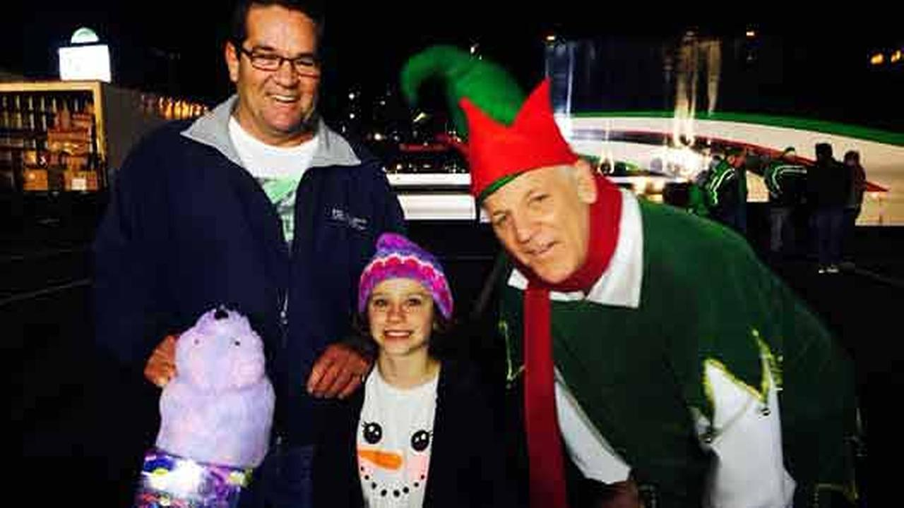 Four-year-old Katie and David from Garden Grove brought in toys for the Spark of Love Toy Drive in Anaheim on Friday, Dec. 19, 2014.
