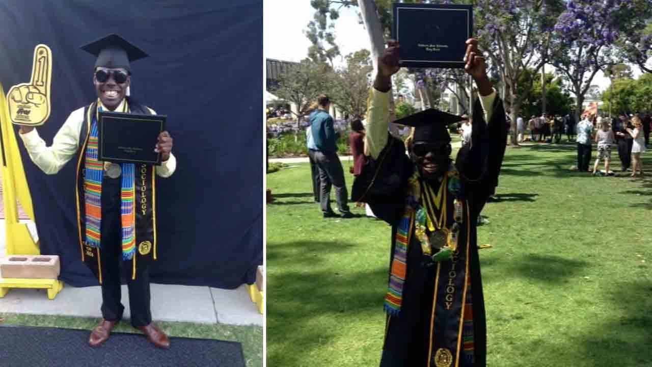 Cal State Long Beach student Aaron Green is graduating this semester after growing up in the foster care system and sometimes living in his car.