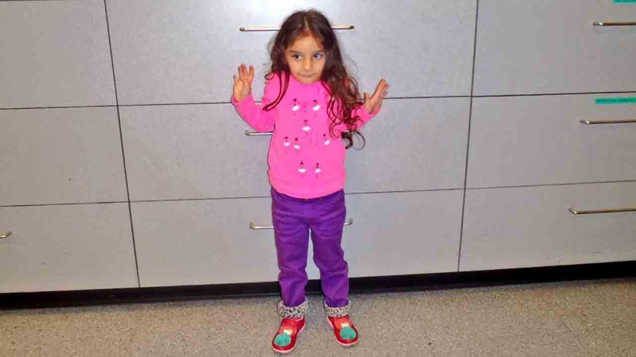 Three-year-old Audrey is seen in this photo provided by the LAPD Wilshire Station.