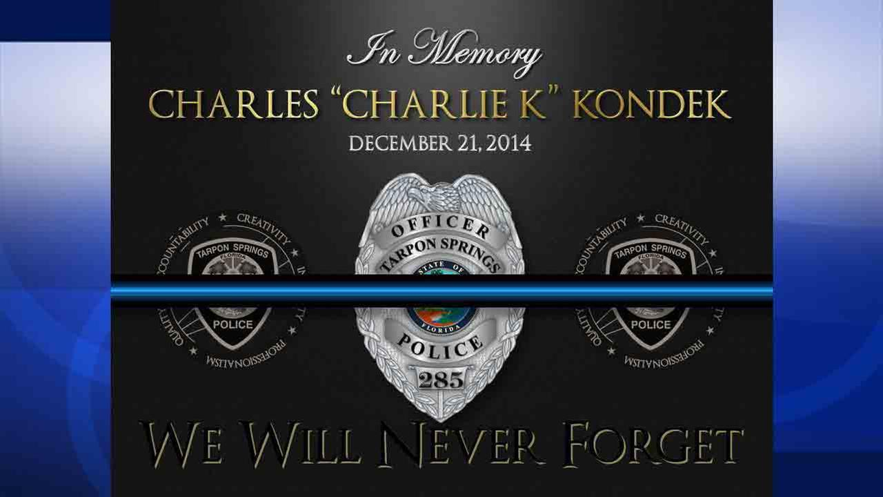 Tarpon Springs police officer Charles Kondek, 45, was fatally shot Dec. 21, 2014.